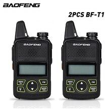 2 pz/lotto originale Baofeng bf t1 walkie talkie mini Per Bambini radio uhf Portatile a due vie radio UHF 400 470MHz FM Ricetrasmettitore