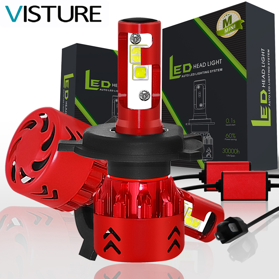 Voiture LED Phare Ampoules 100 W 12000LM H4 LED H7 LED H11 H8 H1 LED HB4 Auto Voiture Haut bas faisceau 6000 K 6500 K LED Lumière Visture M7 Mini7