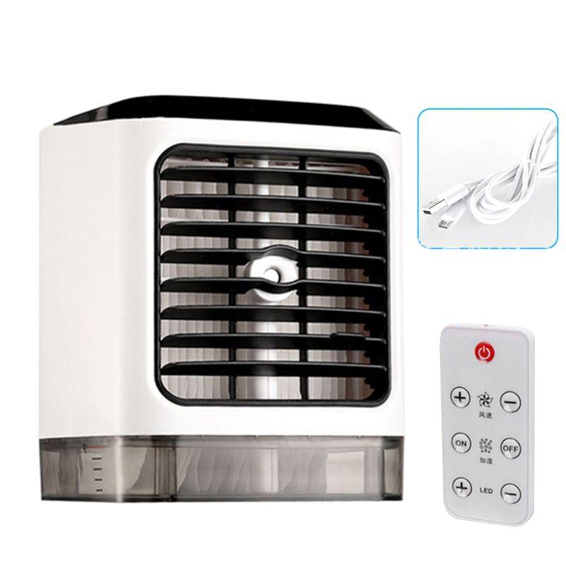 Ventiladores portátiles humidificador de aire frío purificador de aire refrigeración Aire Acondicionado ventilador pequeño escritorio ventilador mesa de sobremesa humedad Sp