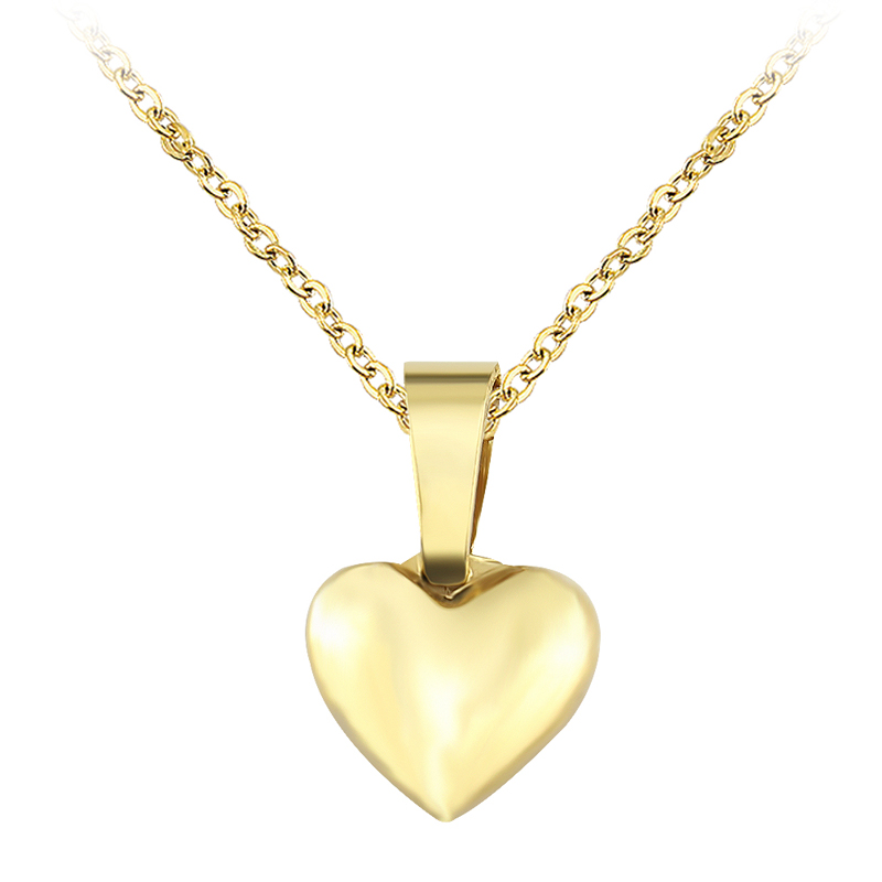 Gold silver necklace with heart shaped pendant stainless steel gold silver necklace with heart shaped pendant stainless steel clavicle chain women choker necklace fashion body jewellery in pendant necklaces from jewelry aloadofball Gallery