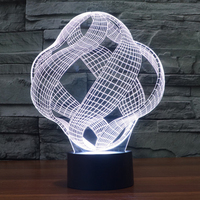 Personalized Chic Modern Visual Illusion Curve Modern Table Lamp Acrylic Colorful LED Lighting Night Bar Decoration