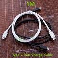 1 М Обратимым USB-C USB 3.1 Type-C Мужчинами Данных зарядное устройство Кабель Для MacBook Адаптер Черный И Белый Бесплатная Доставка новейшие
