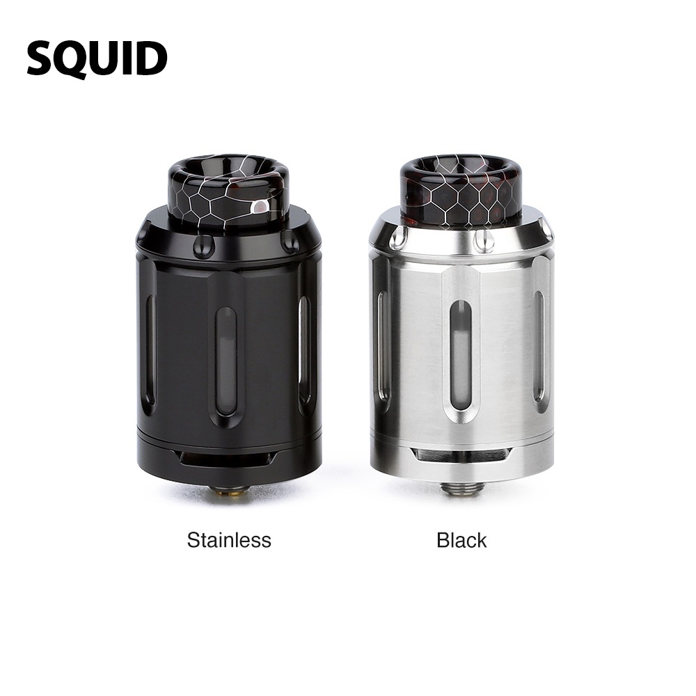 Original Heavengifts Squid Industries PeaceMaker XL RTA 5ml 9ml Atomizer 28mm RTA for Vape Mod Box