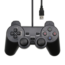 USB Wired PC Gamepad Vibration Joystick  For PC Computer Laptop For PC Win/7/8/10 For Vista Black Controller welcom we 6100 wired usb arcade vibration joystick controller for pc black blue