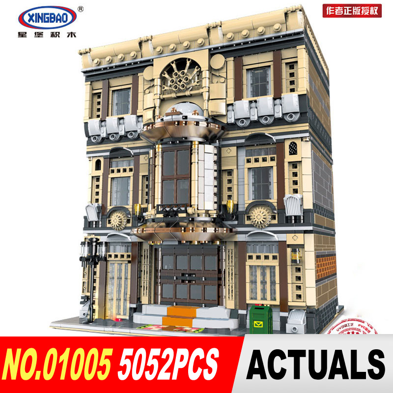 DHL XingBao 01005 5052Pcs Genuine Creative MOC City Series The Maritime Museum Set Building Blocks Bricks Toys Model DIY Gifts the maritime engineering reference book