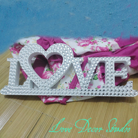 Free Shipping Customize The Sparkling Diamond Crystal Love Letters Valentine Decor Mantle Decor Gift Love Sign