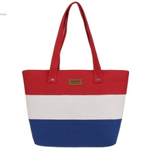 Bolsas Femininas Sac A Main Femme Female Ladies Handbags Canvas Tote Bag Colored stripes Women Messenger