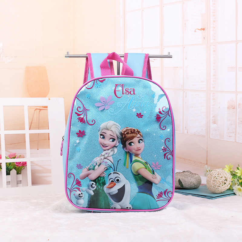 a7c151eabf9 Disney cartoon princess children backpack kindergarten bag Frozen Elsa  handbag girl boy gift bag for school