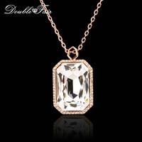 DFN502 Cristal De Luxe Exagéré Colliers et Pendentif pour les Femmes Parti/De Mariage Rose Or Couleur Bijoux En Cristal
