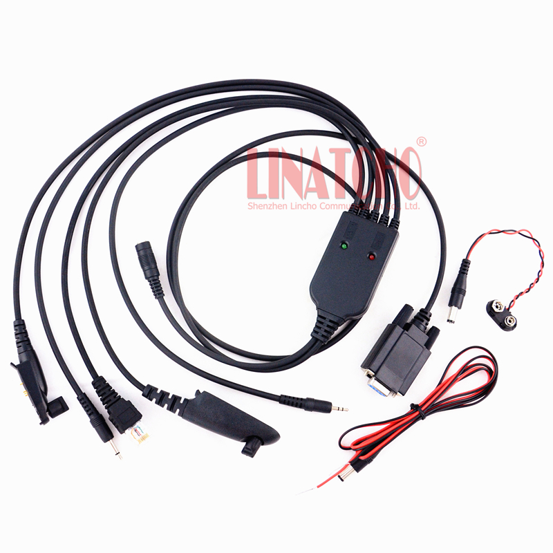 New Type 5 In 1 Multi-utility Universal Walkie Talkie And Car Radio GP328plus GP328 GM338 GM300 GP300 CP040 Programming Cable
