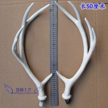 WYZHY A pair of simulated sika deer white antlers photography props Christmas supplies decorations shooting tiara 50CM