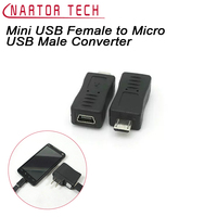 Nartor Mini USB Female To Micro USB Male Converter Transfer Data Charger Adapter For Tablets Phones