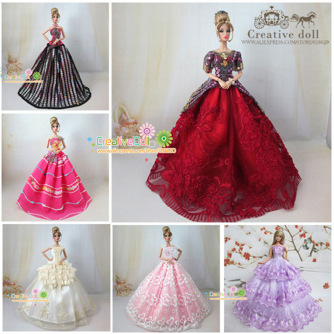 Model Choice Quality Wedding Gown Dress For Fashion Royalty Doll For Poppy Parker Dress For Barbie Doll