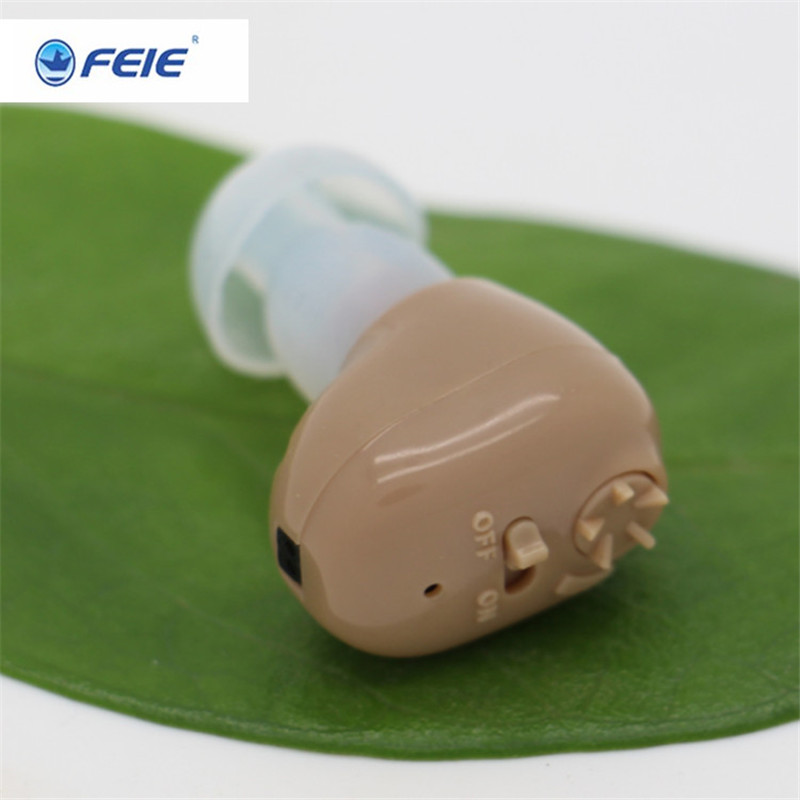EarphoneUSB Rechargeable Sound Amplifier Mini Ear Aid s-102 Hearing Aid With Charger Free Shipping free shipping hearing aids aid behind the ear sound amplifier with cheap china price s 268
