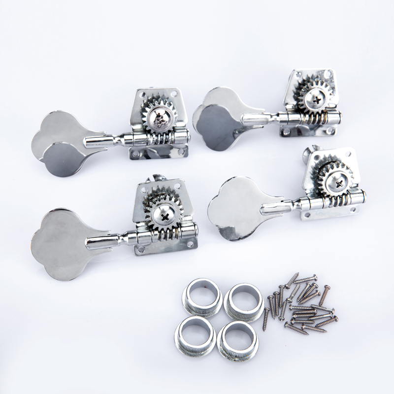 guitar bass machine heads knobs set black and silver tuners tuning pegs tuners guitarra parts 4r. Black Bedroom Furniture Sets. Home Design Ideas