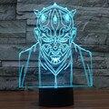 3D Modelo de Star Wars Noche 7 Cambio de Color LED Lámpara de Escritorio Mesa de Luz Darth Mutilar Los Fans Del Anime Juguetes