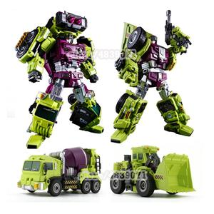 Image 4 - JINBAO Deformation New Devastator Toys Transformation GT Robot Trucks Car Oversize Excavator Crane Model Action Figure Toys