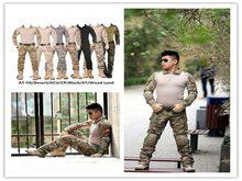 Camouflage tactique militaire vêtements paintball armée cargo pantalon de combat pantalon militaire multicam pantalon avec genouillères costumes