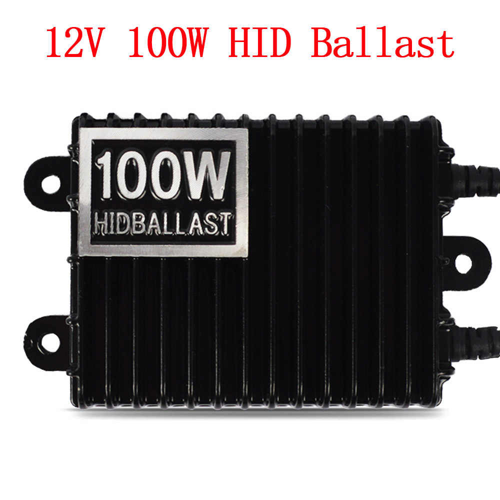 Car Headlight 100W HID Xenon Kit H7 H11 D2H H1 H3 HB3 HB4 Xenon Bulb High Power AC 12V 100W HID Ballast Kit 4300K 6000K 8000K