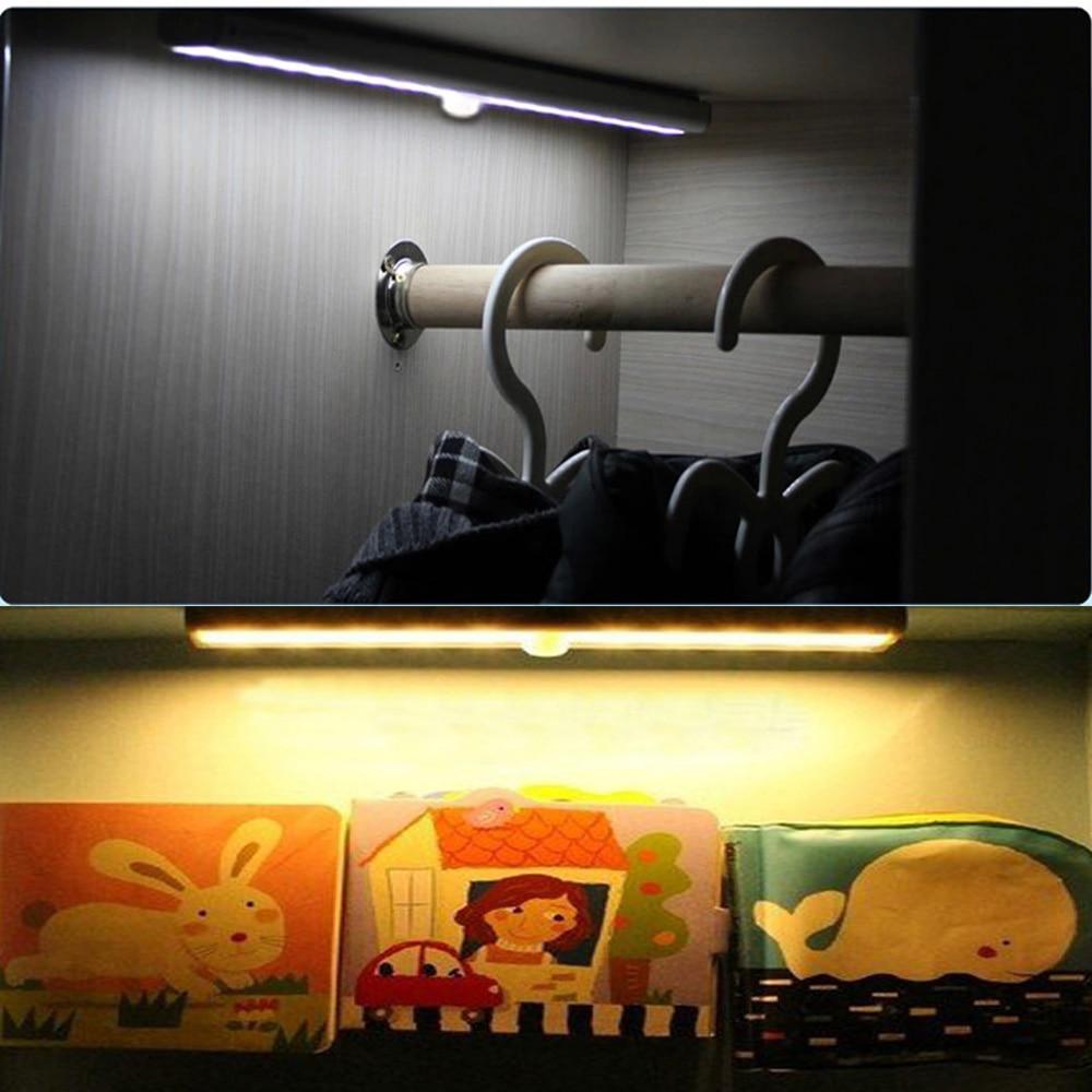 188mm battery powered Wireless PIR infrared motion Sensor light led Lamp under cabinet light Led bar Light Cool/warm White tsleen 1x cabinet pir motion sensor led cupboard shed garage light usb battery powered