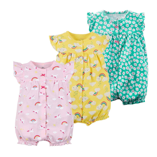 2018 Orangemom baby girl clothing newborn - 24M infant baby rompers cotton  twins costume for new born baby clothes pink jumpsuit f7dd1d364
