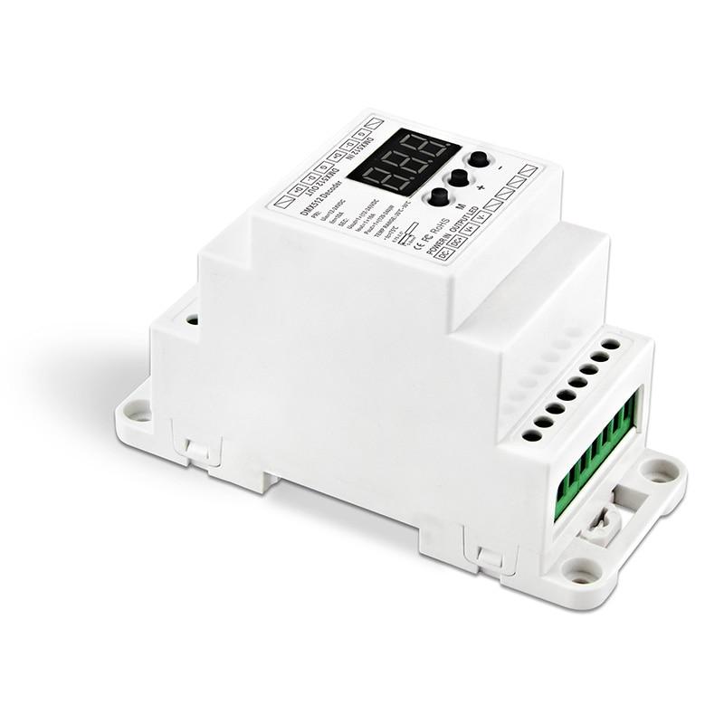 Nouveau BC-831-DIN entrée de DC12-24V de Rail DIN sortie 10A * 1CH, affichage de tube numérique de décodeur de tension constante DMX512 pour la lumière de bande menée