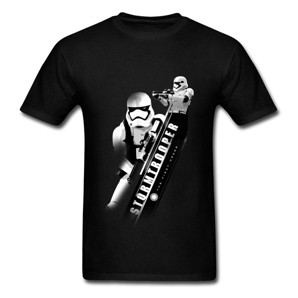 Iron Warrior Legend T Shirts Angular Trooper Mens Fashion Black Summer Tshirt Star Wars Short Sleeve Cotton Tops Tees