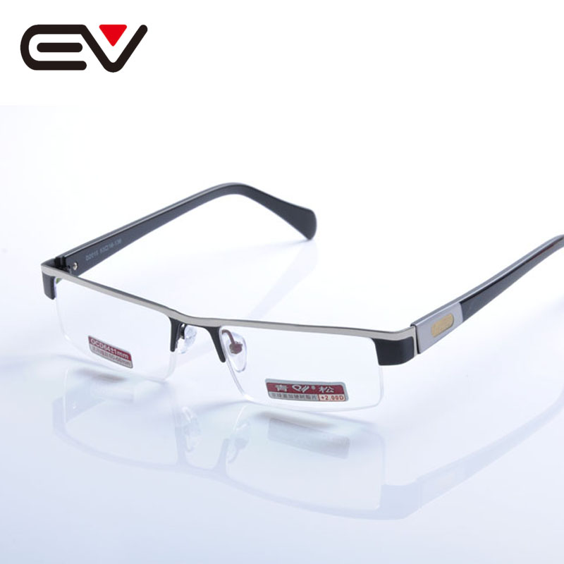 Men's Glasses 1.0-+4.0 Classic Metal Oculos De Leitura Metade Do Aro Ev1318 Preventing Hairs From Graying And Helpful To Retain Complexion Classic Men Metal Semi-rim Reading Glasses Silver Black Diopter Apparel Accessories