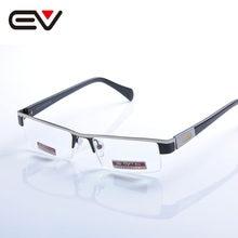 Clássico metal semi-rim óculos de leitura prata preto diopter + 1.0-+ 4.0 clássico metal oculos de leitura metade do aro ev1318