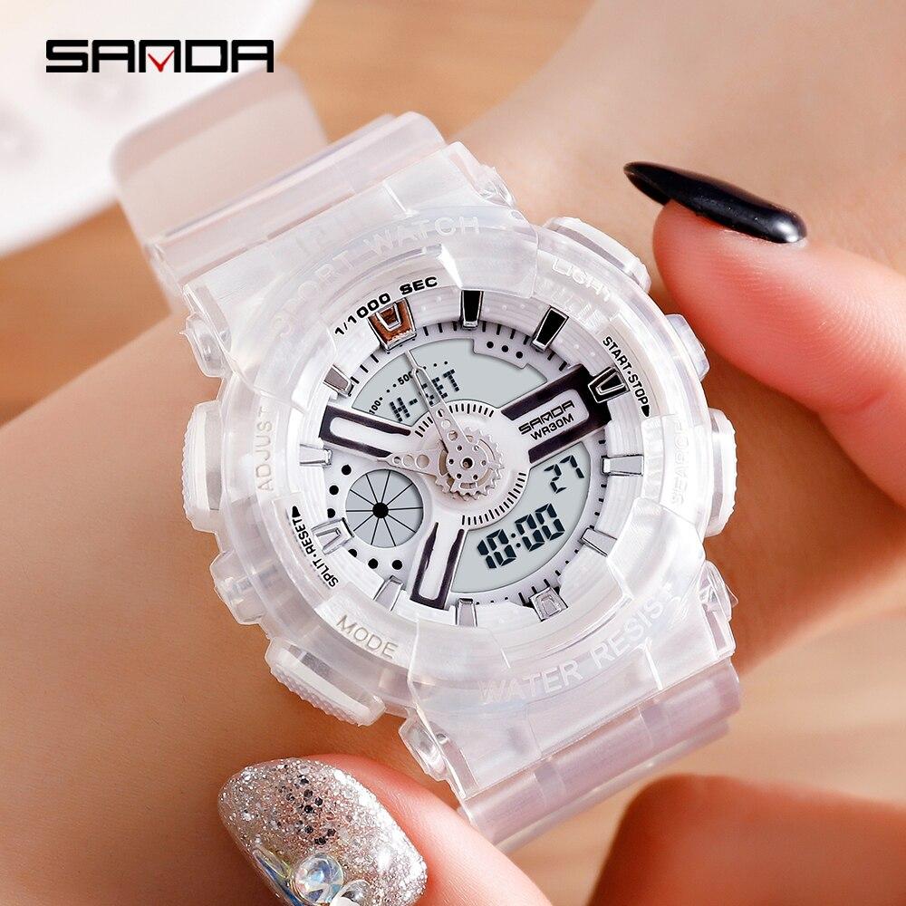 SANDA G Style Men's Watches Waterproof LED Sport Watch Women S Shock Couple Wristwatches Reloj Hombre Relogio Masculino Clock