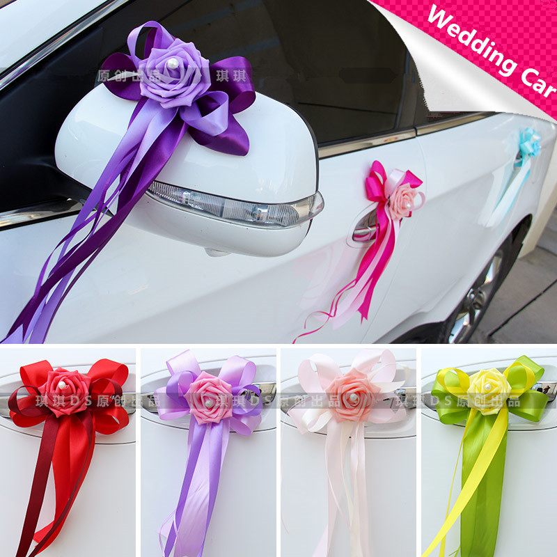 Wedding Car Decoration Diy : Furnished car floats decorated wedding decoration flowers
