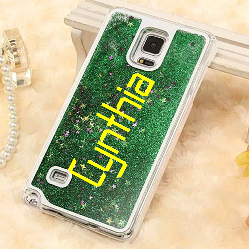 For samsung galaxy note 2/note 3/note 4/note 5 case custom liquid glitter case personalized for samsung note2 note3 note4 note 5