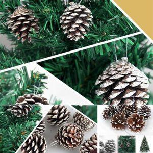 Праздничный Дом Deocr 9 шт рождественские сосновые шишки безделушки Санта-Клаус Рождественская елка украшение для вечеринки новый серебряный...