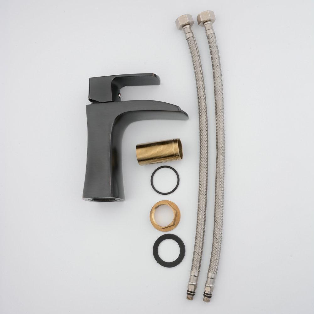 Beelee BL0556 mitigeur de salle de bain avec cascade à un seul trou robinet mitigeur avec évier sans débordement, robinet de lavabo - 6