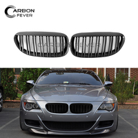 For BMW E63 E64 Front Bumper Kidney Grille 6 Series Coupe Convertible 2004 2010 630i 650i 2 Slat Kidney Grill