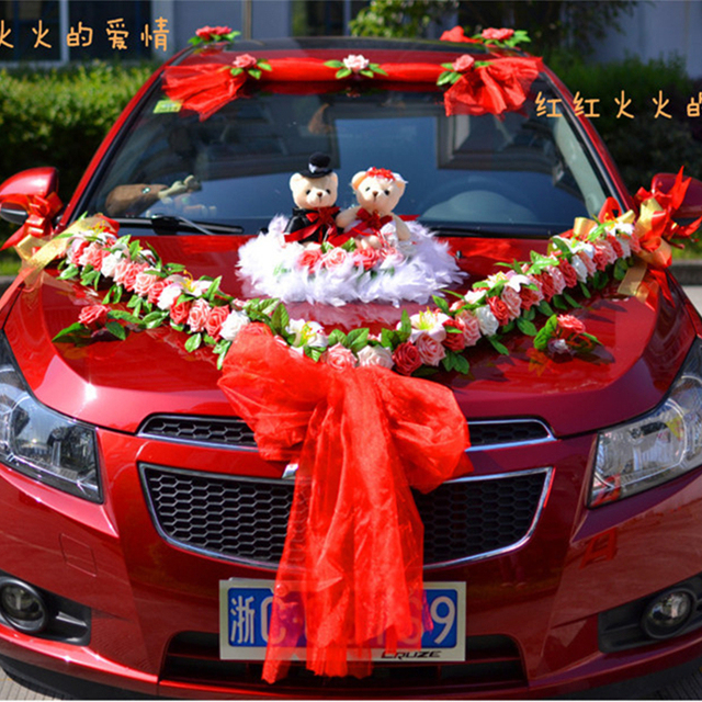Flower wedding car decoration kit Korean car decoration suits ...