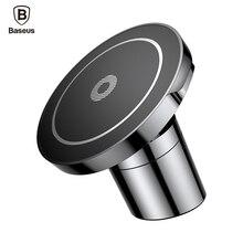 BASEUS автомобильное крепление QI Беспроводной Зарядное устройство для iPhone X 8 Samsung Примечание 8 S8 S7 быстро Беспроводной зарядки Магнитная автомобиля телефон подставка держатель