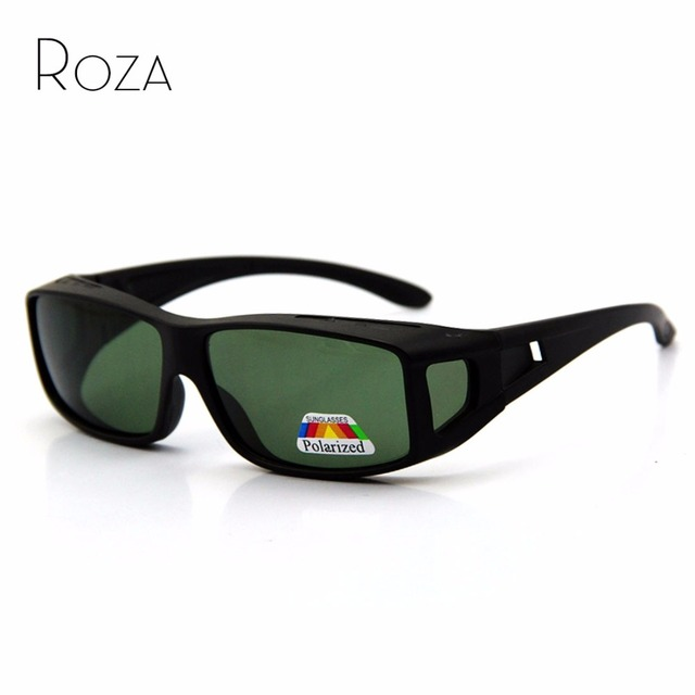 ROZA Suncover Myopia Polarized Sunglasses Men Brand Design Sun Glasses Polaroid Lens Vintage Eyewear UV400 QC0222