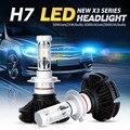 Oslamp cree chips de csp vehículo coche h7 led headlight kits LED H7 Faros Antiniebla Bombillas 50 W/Pair todo-en-uno Sin Ventilador 3000 K 6500 K 8000 K