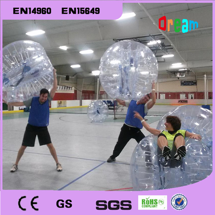 Free Shipping 0.8mm PVC 1.5m Inflatable Bumper Bubble Soccer Ball Giant Human Hamster Ball For Sale clear human inflatable bumper bubble ball best tpu inflatable ball