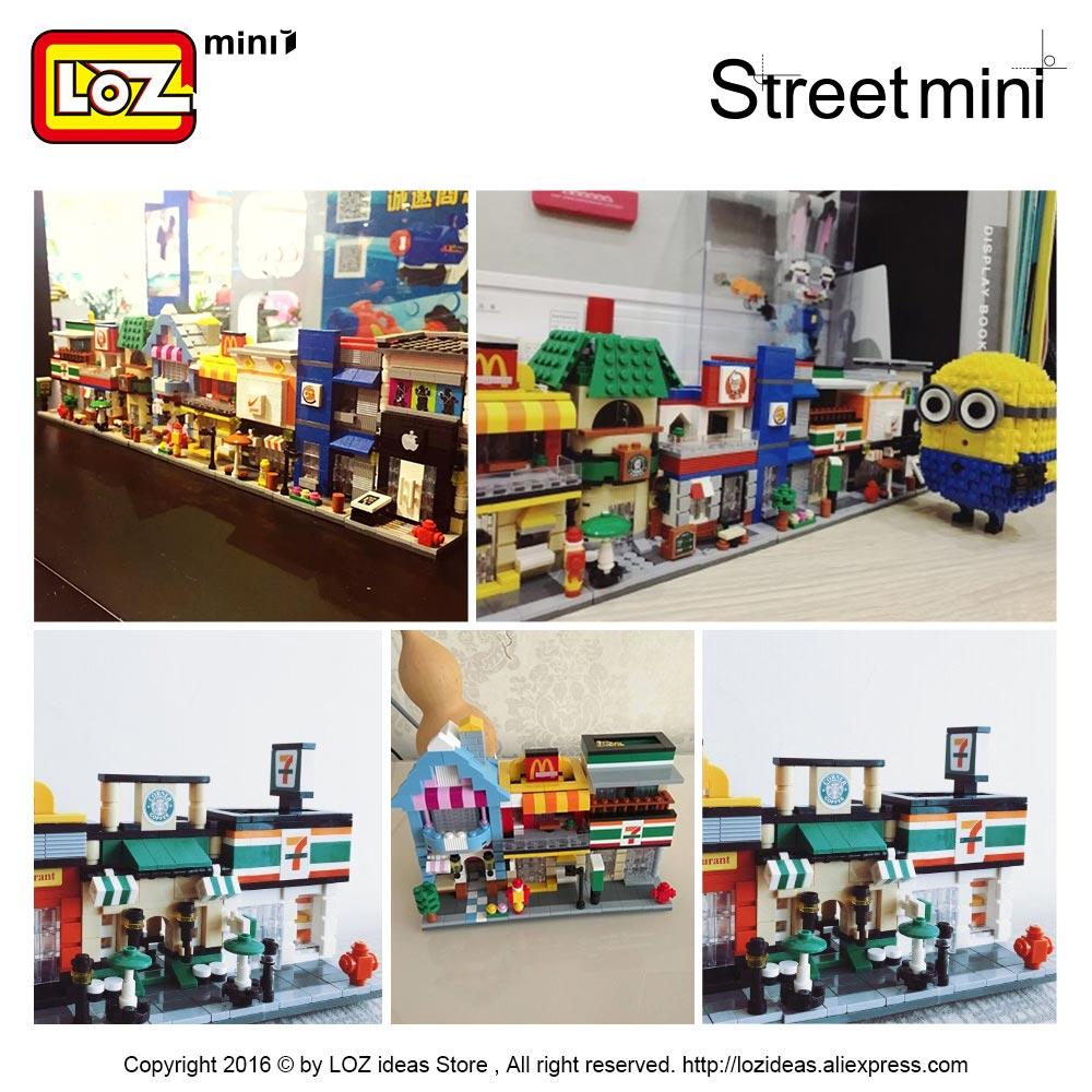 LOZ Blocks City Mini Street Bricks Set Arkitektur Byggstenar - Byggklossar och byggleksaker - Foto 5