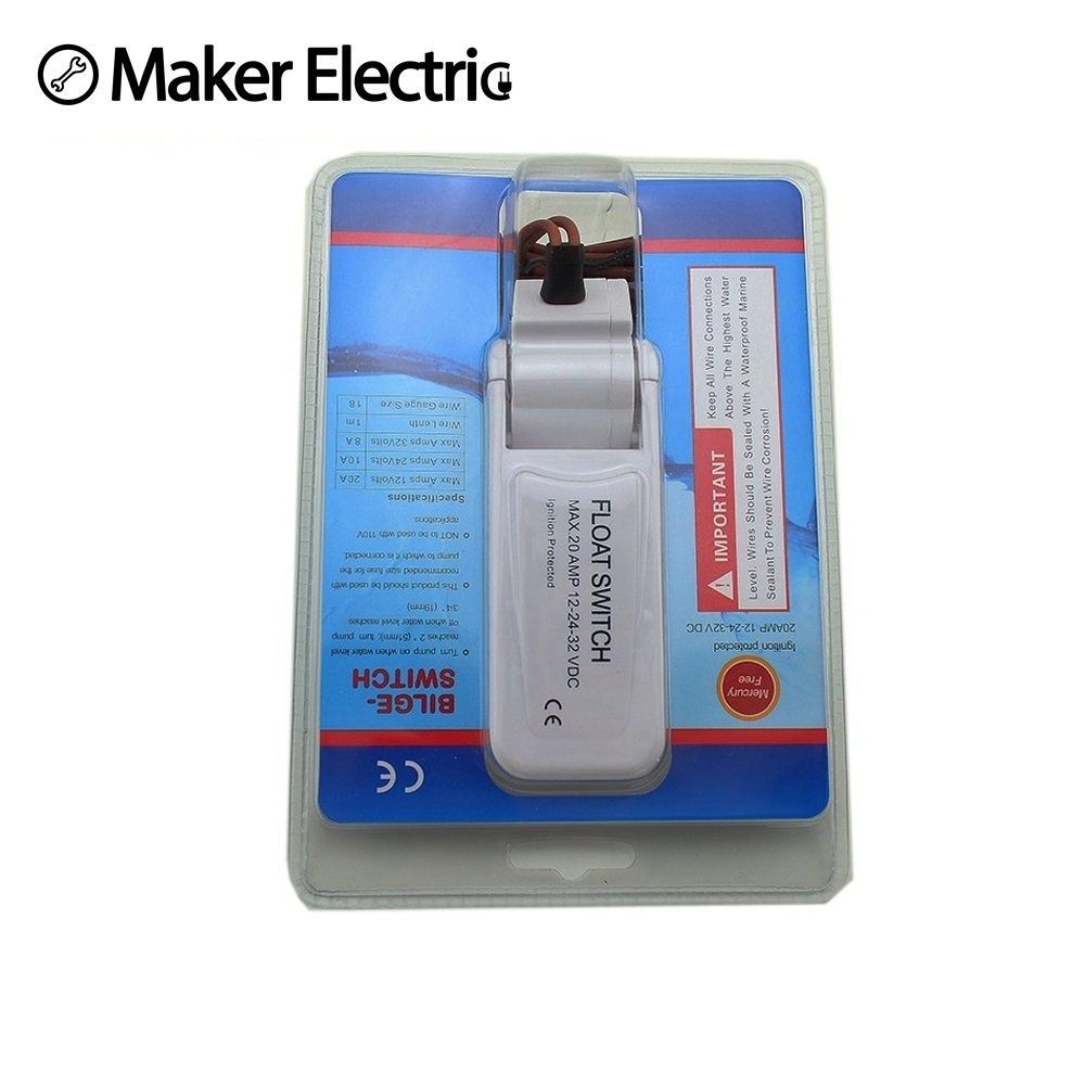 New Mkele Mk Pfs10010 220v Liquid Water Level Sensor Plastic Indicator Circuit Flow Float