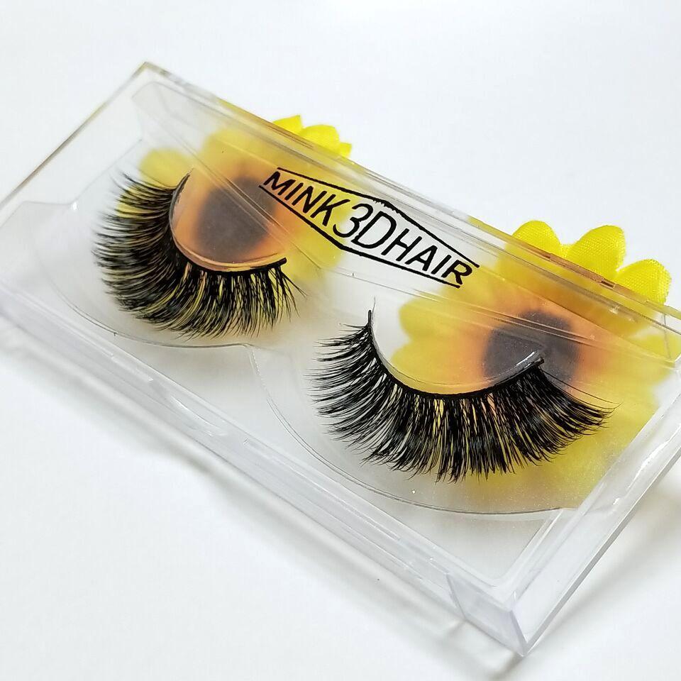 DOCOCER 3D Mink Real Mink Eyelashes Handmade Cross Eyelashes Thick Thick Strip Eyelashes Individual Eyelashes 3D15