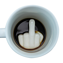 Творческий белый средний палец стиль чашки новинка Смешивание Кофе Молоко чашка смешная керамическая чашка