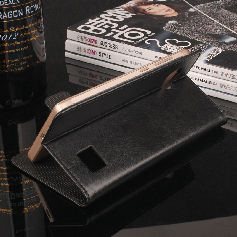 For Blackview BV6000 BV6000S Soft Leather Skin Credit Card Slot Flip Wallet Card Case For Blackview