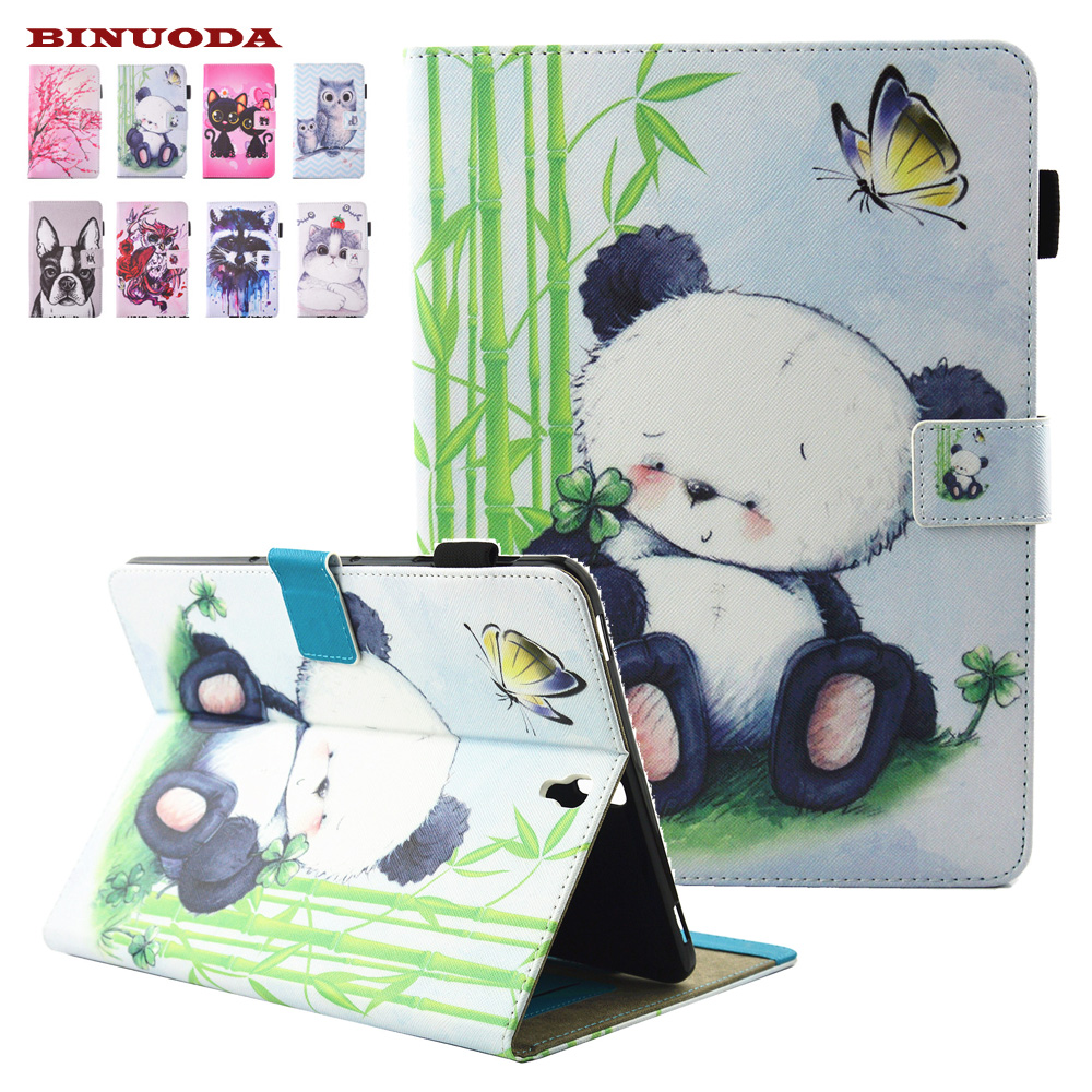 For Coque Samsung Galaxy Tab S3 9.7 Case SM-T820 Cute Kids Gift Animal Prints PU Leather TPU Case Cover Stand Flip Coque SM-T825 k s kids 3