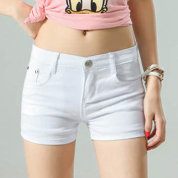 Women's Shorts Denim Shorts Cotton Candy Color Short Jeans For Women Mid Waist Black White Sexy Short Feminino Hot sale Women's Bottoms