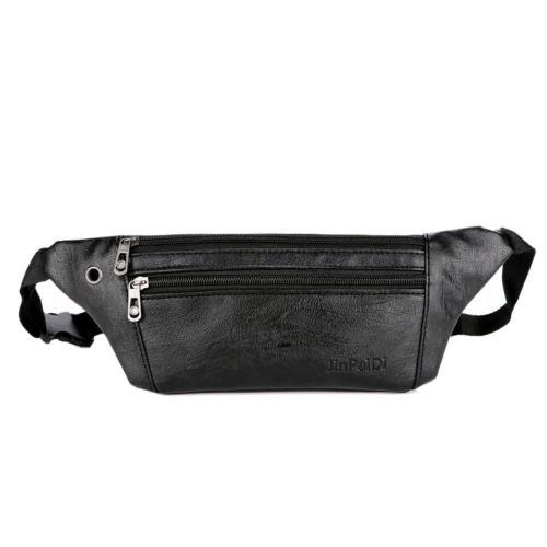 Mens PU Leather Cowhide Hip Belt Fanny Pack Waist Purse Sling Chest Storage Bag