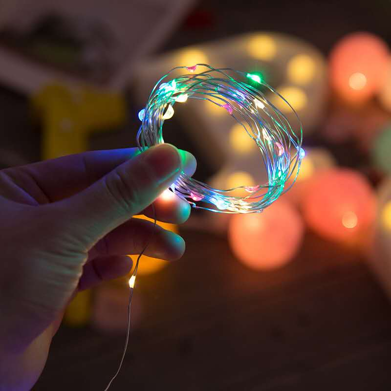 Christmas Light 1M 2M Silver Wire LED String Lights Waterproof Holiday Lighting For Fairy  Tree Wedding Party Decoration