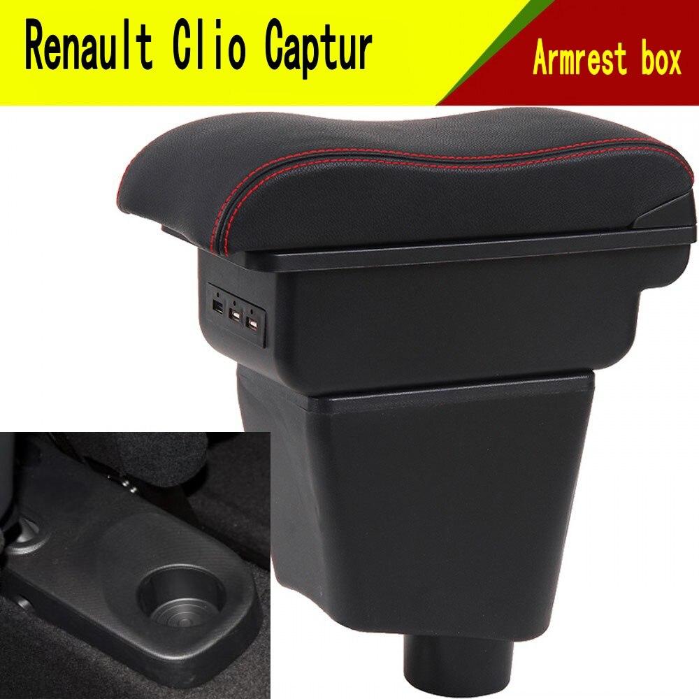 Для Renault Captur QM3 подлокотник коробка центральный магазин содержание коробка держатель чашки интерьер автомобиля Стайлинг Аксессуары часть 14 17-in Подлокотники from Автомобили и мотоциклы